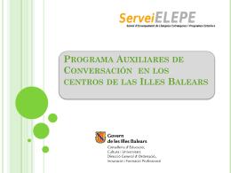 Programa Auxiliares de Conversación en los centros de las Illes