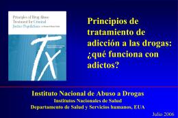 Principios de tratamiento de adicción a las drogas: ¿qué funciona