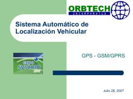 Sistema Automático de Localización Vehicular