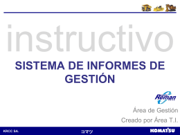 Manual Informes de Gestión - Intranet KRCC