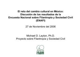 la Encuesta Nacional sobre Filantropía y Sociedad Civil (ENAFI)
