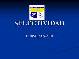 SELECTIVIDAD - Colegio Efeso