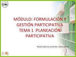 Planeacion Participativa 1 - Secretaría de Cultura, Recreación y