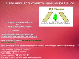 curso sobre la nueva ley de contratación del sector público