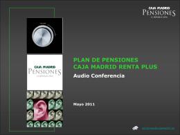 Diapositiva 1 - Bankia Pensiones