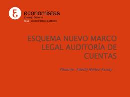 Nuevo marco Legal desde la Auditoria de Cuentas