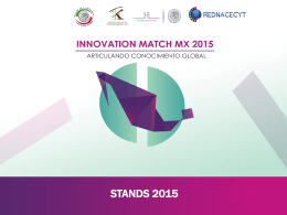 stands 2015 - Innovation Match MX