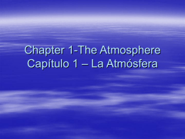 Chapter 1-The Atmosphere