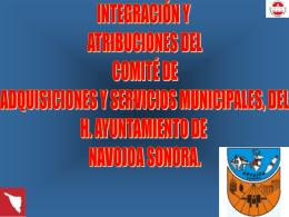 integración y atribuciones del comité de adquisiciones y servicios