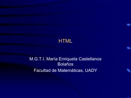 Separando Presentación y Contenido en el Web: HMTL y CSS