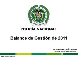 Metas Cumplidas 2011 - Policía Nacional de Colombia