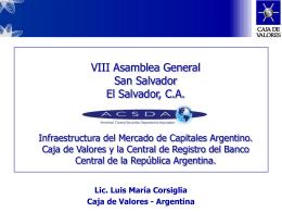 El rol de Caja de Valores S.A. en el Sistema Bursátil Argentino