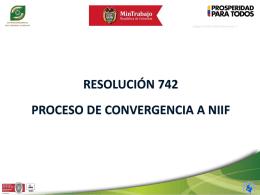 presentación 742 y niif 2014 - Superintendencia del Subsidio Familiar