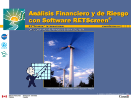 Financial Analysis with RETScreen Software