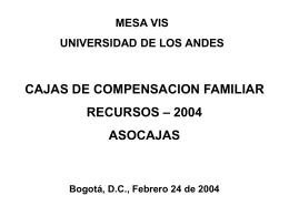ccf fovis 2004 - Mesa VIS - Universidad de los Andes