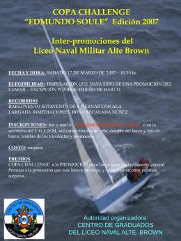 aviso regata 2007 - Centro de Graduados del Liceo Naval Militar