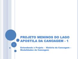 APOSTILA DA CANOAGEM - 1 - Confederação Brasileira de