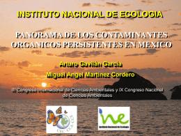 Panorama de los contaminantes organicos persistentes en mexico