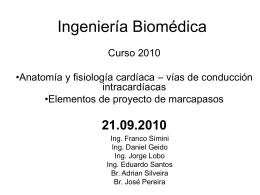 IngBiomMarcapasos2010 - Núcleo de Ingeniería Biomédica