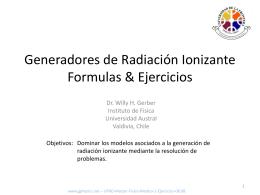 Generadores de Radiación Ionizante Ejercicios