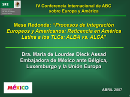 El TLCAN - IV Conferencia Internacional ABC