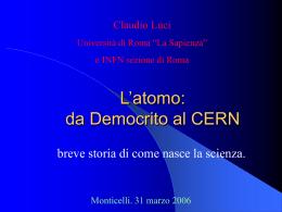 da Democrito al CERN