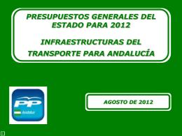 Documento presentación PGE 2012 Andalucía
