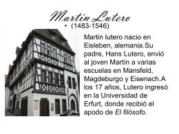 Martín Lutero - Letramorfosis