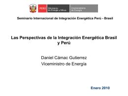 Seminario Internacional de Integración Energética Perú - Brasil