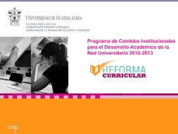 Avances Reforma Curricular