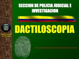 DACTILOSCOPIA POLICIA DE COLOMBIA