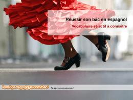 FICHES DE VOCABULAIRE POUR LE BAC /ESPAGNOL