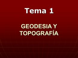 GEODESIA Y TOPOGRÁFIA