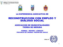 Proyecto piloto reconstrucción con empleo y dialogo social