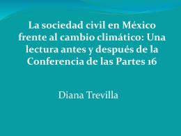 Sociedad civil y cambio climático