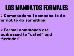 LOS MANDATOS FAMILIARES