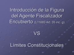 Introducción a la Figura del Agente Fiscalizador Encubierto