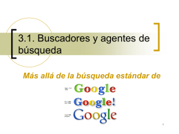3.1. Buscadores y agentes de búsqueda