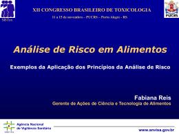 Exemplos da Aplicação dos Princípios da Análise de Risco