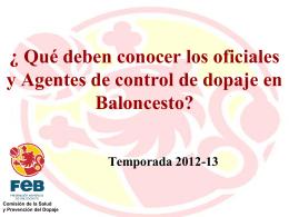 REGLAMENTACIÓN DE DOPAJE EN BALONCESTO