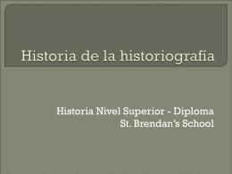 Historia de la historiografía