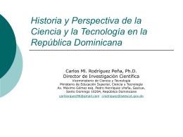 Historia y Perspectiva de la Ciencia y la Tecnología en la