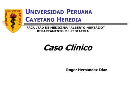 RESUMEN HISTORIA CLÍNICA - Sociedad Peruana de Pediatría