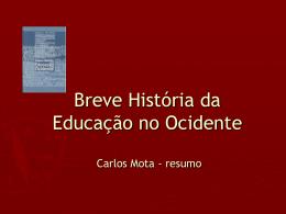 Breve História da Educação no Ocidente