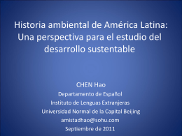 Historia ambiental de America Latina Una persperctiva para el