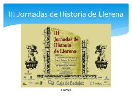 III Jornadas de Historia de Llerena