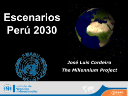 ESCENARIOS PERÚ 2030