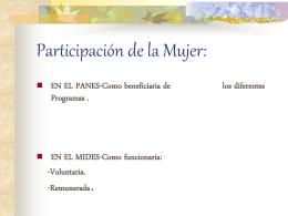 Participación de la Mujer:
