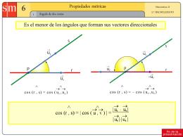 Propiedades metricas
