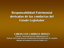 Responsabilidad Edo Legislador Margarita. Carlos L